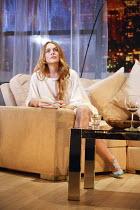 SPEED THE PLOW   by David Mamet   design: Robert Innes Hopkins   lighting: Paul Anderson   director: Lindsay Posner ~Lindsay Lohan (Karen)~Playhouse Theatre, London WC2   02/10/2014