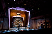 BUT FIRST THIS   book & lyrics: Kathy Clugston   music: Desmond O'Connor   design: Hayley Grindle   lighting: Nick Richings   director: Michael Kingsbury   stage,set,full,empty,studio,broadcasting,ra...