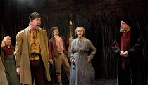 THE WITCH OF EDMONTON   by Dekker, Ford & Rowley   design: Niki Turner   lighting: Tim Mitchell   director: Gregory Doran   front l-r: Christopher Middleton (Banks), Eileen Atkins (Mother Sawyer), Ti...