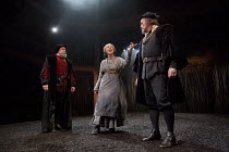 THE WITCH OF EDMONTON   by Dekker, Ford & Rowley   design: Niki Turner   lighting: Tim Mitchell   director: Gregory Doran   l-r: Timothy Speyer (Justice), Eileen Atkins (Mother Sawyer), David Rintoul...