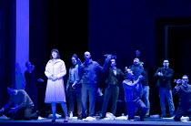 IDOMENEO   by Mozart   conductor: Marc Minkowski   set design: Annette Murschetz   costumes: Heide Kastler   lighting: Reinhard Traub   director: Martin Kusej   Malin Bystrom (Elettra) with chorus wa...