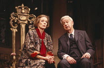 LETTICE AND LOVAGE  by Peter Shaffer  set design: Alan Tagg  costumes: Susan Yelland  lighting: Robert Bryan  director: Michael Blakemore ~~Maggie Smith (Lettice Douffet), Richard Pearson (Mr Bardolph...