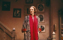 LETTICE AND LOVAGE  by Peter Shaffer  set design: Alan Tagg  costumes: Susan Yelland  lighting: Robert Bryan  director: Michael Blakemore ~~Maggie Smith (Lettice Douffet)~Globe Theatre, London W1   28...