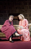 ACCOLADE   by Emlyn Williams   design: James Cotterill   lighting: Peter Mumford   director: Blanche McIntyre   Alexander Hanson (Will Trenting), Abigail Cruttenden (Rona Trenting) St. James Theatre,...