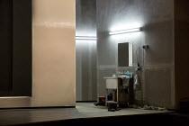 GLARE   music: Soren Nils Eichberg   libretto: Hannah Dubgen   conductor: Geoffrey Paterson   design: Madeleine Boyd   lighting: Matt Haskins   director: Thaddeus Strassberger   set,detail,sink,mirror...