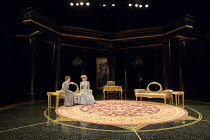 AN IDEAL HUSBAND   by Oscar Wilde   design: Simon Higlett   lighting: Howard Harrison   director: Rachel Kavanaugh   l-r: Laura Rogers (Lady Chiltern), Jemma Redgrave (Mrs Cheveley)   and showing st...