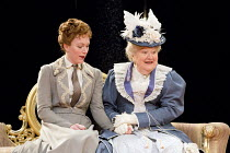 AN IDEAL HUSBAND   by Oscar Wilde   design: Simon Higlett   lighting: Howard Harrison   director: Rachel Kavanaugh   l-r: Laura Rogers (Lady Chiltern), Patricia Routledge (Lady Markby) Chichester F...
