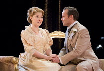 AN IDEAL HUSBAND   by Oscar Wilde   design: Simon Higlett   lighting: Howard Harrison   director: Rachel Kavanaugh ~~Amy Morgan (Miss Mabel Chiltern), Jamie Glover (Lord Goring)~Chichester Festival Th...