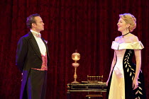 AN IDEAL HUSBAND   by Oscar Wilde   design: Simon Higlett   lighting: Howard Harrison   director: Rachel Kavanaugh ~~Jamie Glover (Lord Goring), Jemma Redgrave (Mrs Cheveley)~Chichester Festival Theat...