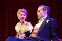 AN IDEAL HUSBAND   by Oscar Wilde   design: Simon Higlett   lighting: Howard Harrison   director: Rachel Kavanaugh ~~Jemma Redgrave (Mrs Cheveley), Jamie Glover (Lord Goring)~Chichester Festival Theat...