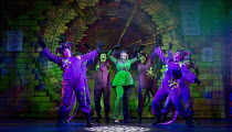DICK WHITTINGTON AND HIS CAT   written by Tom Wells   set design: Oliver Townsend   costumes: Katie Lias   lighting: Tim Deiling   choreography: Lainie Baird   director: Dan Herd Tiffany Graves (Queen...