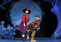 ROOM ON THE BROOM   based on the book by Julia Donaldson & Axel Scheffler   design: Morgan Large   lighting: James Whiteside   director: Olivia Jacobs l-r: Yvette Clutterbuck (Witch), Emma MacLennan (...