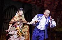 CINDERELLA   written by Eric Potts   choreographer: Lizzi Gee   director: Ian Talbot Amy Lennox (Cinderella), Tim Vine (Buttons)New Wimbledon Theatre, London SW19  f09/12/2014  Donald Cooper/Photostag...