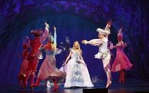 CINDERELLA   written by Eric Potts   choreographer: Lizzi Gee   director: Ian Talbot Amy Lennox (Cinderella)New Wimbledon Theatre, London SW19  f09/12/2014  Donald Cooper/Photostage   donald@photostag...
