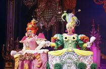 CINDERELLA   written by Eric Potts   choreographer: Lizzi Gee   director: Ian Talbot l-r: Matthew Kelly (Ugly Sister), Matthew Rixon (Ugly Sister)New Wimbledon Theatre, London SW19  f09/12/2014  Donal...