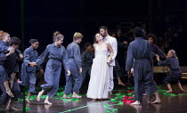 ORFEO   by Monteverdi   conductor: Christopher Moulds   set design: Tom Piper   lighting: Jean Kalman   director: Michael Boyd   centre: Mary Bevan (Euridice), Gyula Orendt (Orfeo) The Royal Opera (...