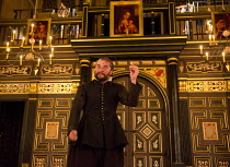 THE CHANGELING   by Thomas Middleton & William Rowley   design: Jonathan Fensom   director: Dominic Dromgoole Trystan Gravelle (De Flores) with Alonzo's severed finger and ring Sam Wanamaker Playhouse...