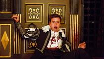 THE CHANGELING   by Thomas Middleton & William Rowley   design: Jonathan Fensom   director: Dominic Dromgoole mortally wounded: Tom Stuart (Alonzo)Sam Wanamaker Playhouse / Shakespeare's Globe (SG), L...