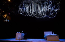 THE HARD PROBLEM   by Tom Stoppard   design: Bob Crowley   lighting: Mark Henderson   director: Nicholas Hytner stage,set,empty,detail,brain,lights,desk,bedDorfman Theatre / National Theatre (NT), Lon...