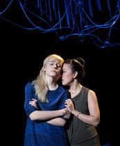 THE HARD PROBLEM   by Tom Stoppard   design: Bob Crowley   lighting: Mark Henderson   director: Nicholas Hytner l-r: Olivia Vinall (Hilary), Vera Chok (Bo) Dorfman Theatre / National Theatre (NT), Lon...