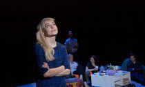 THE HARD PROBLEM   by Tom Stoppard   design: Bob Crowley   lighting: Mark Henderson   director: Nicholas Hytner Olivia Vinall (Hilary)  Dorfman Theatre / National Theatre (NT), London SE1   28/01/2015...