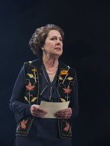 TAKEN AT MIDNIGHT   by Mark Hayhurst   design: Robert Jones   lighting: Tim Mitchell   director: Jonathan Church Penelope Wilton (Irmgard Litten)Chichester Festival Theatre 2014 production / Theatre R...
