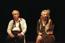 THE CHAIRS   by Eugene Ionesco   design: Quay Brothers   lighting: Paul Anderson   directed & choreographed by Simon McBurney Richard Briers (Old Man), Geraldine McEwan (Old Woman) Theatre de Complici...