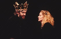 MACBETH  by Shakespeare   design: Bob Crowley   lighting: Mark Henderson   director: Adrian Noble ~Jonathan Pryce (Macbeth), Sinead Cusack (Lady Macbeth) ~Royal Shakespeare Company (RSC), Royal Shakes...
