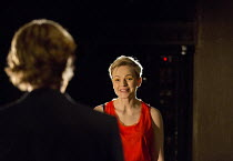 HOW TO HOLD YOUR BREATH   by Zinnie Harris   design: Chloe Lamford   lighting: Paule Constable   director: Vicky Featherstone   l-r: Michael Shaeffer (Jarron), Maxine Peake (Dana)  Jerwood Theatre Dow...