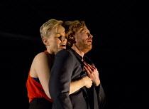 HOW TO HOLD YOUR BREATH   by Zinnie Harris   design: Chloe Lamford   lighting: Paule Constable   director: Vicky Featherstone   Maxine Peake (Dana), Michael Shaeffer (Jarron) Jerwood Theatre Downstair...