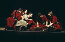 ANTONY AND CLEOPATRA   by Shakespeare   design: Sally Jacobs   director: Peter Brook left, in brown: Alan Howard (Antony)   right: Alan Rickman (Antony soldier)Royal Shakespeare Company (RSC) / Royal...