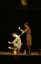 ANTONY AND CLEOPATRA   by Shakespeare   design: Sally Jacobs   director: Peter Brook Antony commands Eros to kill him - l-r: Alan Howard (Antony), Hilton McRae (Eros) Royal Shakespeare Company (RSC) /...