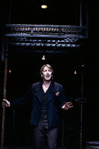 HAMLET   by Shakespeare   design & lighting: Giorgi Meskhishvili   director: Robert Sturua    Alan Rickman (Hamlet)  Riverside Studios, London W6   15/09/1992  (c) Donald Cooper/Photostage   photo...