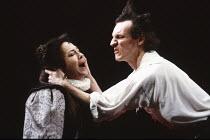 HAMLET   by Shakespeare   design: Nick Ormerod   lighting: Rick Fisher & Judith Greenwood   director: Declan Donnellan   Natasha Parry (Gertrude), Timothy Walker (Hamlet)  Cheek by Jowl / Lyric Hammer...