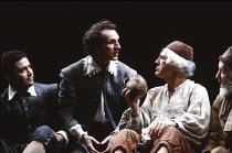HAMLET   by Shakespeare   design: Nick Ormerod   lighting: Rick Fisher & Judith Greenwood   director: Declan Donnellan   centre: Timothy Walker (Hamlet), Peter Needham (1st Gravedigger) Cheek by Jowl...