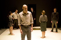 A VIEW FROM THE BRIDGE   by Arthur Miller   set & lighting design: Jan Versweyveld   costumes: An D'Huys   director: Ivo Van Hove l-r: Phoebe Fox (Catherine), Michael Gould (Alfieri), Mark Strong (Edd...