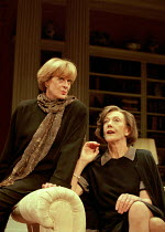 A DELICATE BALANCE   by Edward Albee   design: Carl Toms   lighting: Howard Harrison   director: Anthony Page l-r: Maggie Smith (Claire), Eileen Atkins (Agnes) Theatre Royal Haymarket (TRH), London SW...