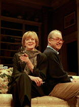 A DELICATE BALANCE   by Edward Albee   design: Carl Toms   lighting: Howard Harrison   director: Anthony Page   Maggie Smith (Claire), John Standing (Tobias)  Theatre Royal Haymarket (TRH), London S...