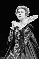 THE DUCHESS OF MALFI   by John Webster   design: Bob Crowley   lighting: Geoffrey Joyce   director: Adrian Noble ~~Helen Mirren (The Duchess of Malfi)~Royal Exchange Theatre, Manchester  16/09/1980...
