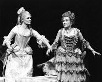 THE WAY OF THE WORLD   by William Congreve   design: Maria Bjornson   lighting: Nick Chelton   director: John Barton l-r: Judi Dench (Millamant), Beryl Reid (Lady Wishfort)Royal Shakespeare Company (R...