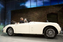 MAN AND SUPERMAN   by Bernard Shaw   design: Christopher Oram   lighting: James Farncombe   director: Simon Godwin at the wheel: Ralph Fiennes (Jack Tanner) with Elliot Barnes-Worrell (Straker)Lyttelt...