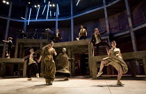 ROMEO + JULIET   by Shakespeare   composer: Benji Bower   design: Katie Sykes   lighting: Aideen Malone   movement: Dan Canham   fights: Renny Krupinski   director: Sally Cookson Act 1 sc. 5: the mask...