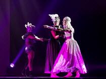 ROMEO AND JULIET   by Rasta Thomas   after Shakespeare   choreography: Adrienne Canterna   Capulet Masked Ball - right: Adrienne Canterna (Juliet) and guests Rasta Thomas Dance Company / Sadler's Well...