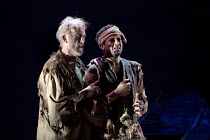 THE WILD MAN OF THE WEST INDIES   music: Donizetti   libretto: Ferretti   conductor: Jeremy Silver   design: Florence de Mare   lighting: Mark Howland   director: Iqbal Khan   l-r: Craig Smith (Carden...