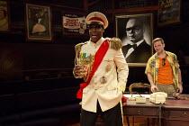 l-r: Seun Shote (Samuel), Rob Heanley (Chuck Reynolds) in PLAY MAS by Mustapha Matura at the Orange Tree Theatre, Richmond, Surrey, England  13/03/2015  design: Libby Watson  lighting: Mark Jonathan...