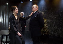 THE FATHER by August Strindberg   in a new version by Laurie Slade   design: James Turner   lighting: Gary Bowman   director: Abbey Wright   l-r: Emily Dobbs (Laura), June Watson (Nurse), Alex Ferns (...
