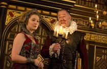 THE BROKEN HEART   by John Ford   design: Max Jones   director: Caroline Steinbeis Amy Morgan (Penthea), Owen Teale (Bassanes)Sam Wanamaker Playhouse / Shakespeare's Globe (SG), London SE1   18/03/201...