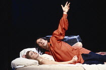 ROMEO AND JULIET   by Shakespeare   design: Alison Chitty   lighting: Jean Kalman   director: David Leveaux Claire Holman (Juliet), Michael Maloney (Romeo) Royal Shakespeare Company (RSC), Royal Shake...