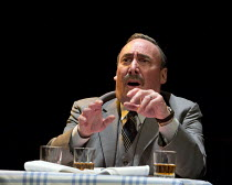 DEATH OF A SALESMAN   by Arthur Miller   design: Stephen Brimson Lewis   lighting: Tim Mitchell   director: Gregory Doran 3.2.5: Frank's Chophouse: Antony Sher (Willy Loman)Royal Shakespeare Company (...