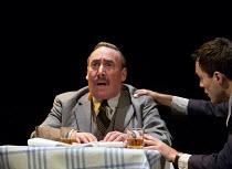 DEATH OF A SALESMAN   by Arthur Miller   design: Stephen Brimson Lewis   lighting: Tim Mitchell   director: Gregory Doran 3.2.5: Frank's Chophouse - l-r: Antony Sher (Willy Loman), Alex Hassell (Biff)...